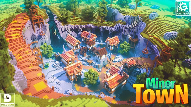 Miner Town on the Minecraft Marketplace by Gearblocks