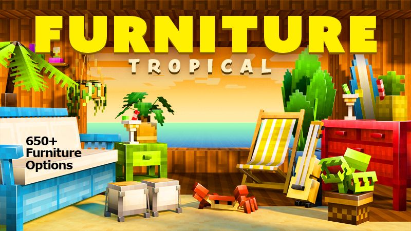 Furniture Tropical on the Minecraft Marketplace by Spark Universe