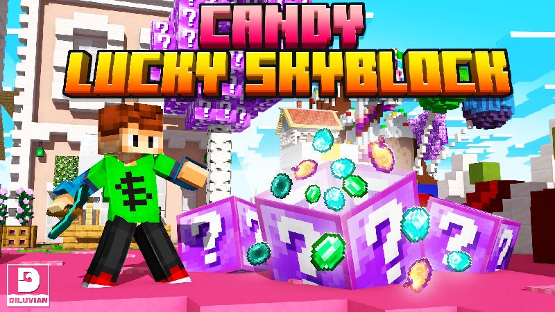 Candy Lucky Skyblock on the Minecraft Marketplace by Diluvian