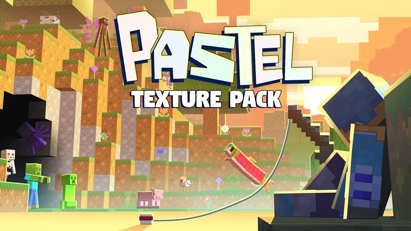 Pastel Texture Pack on the Minecraft Marketplace by Square Dreams