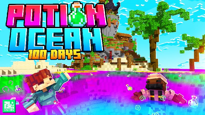 Potion Ocean 100 Days on the Minecraft Marketplace by Piki Studios