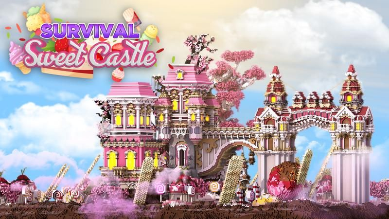 Survival Sweet Castle on the Minecraft Marketplace by 4KS Studios