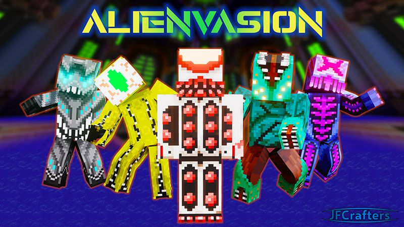 Alienvasion on the Minecraft Marketplace by JFCrafters