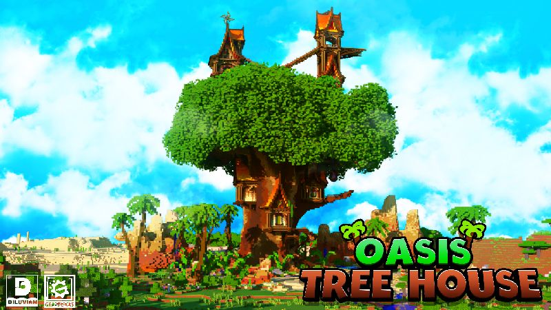 Oasis Tree House on the Minecraft Marketplace by Gearblocks