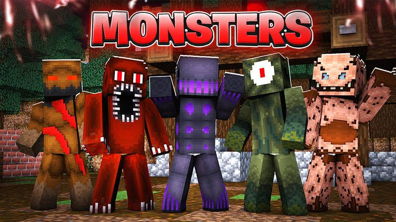 Monsters on the Minecraft Marketplace by Blu Shutter Bug