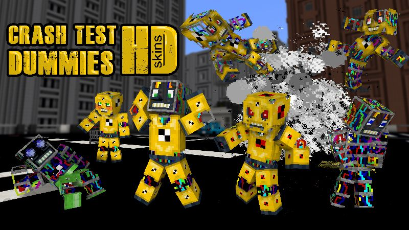 Crash Test Dummies HD on the Minecraft Marketplace by Wandering Wizards