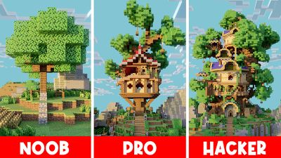 TreeHouse Noob x Pro x Hacker on the Minecraft Marketplace by Diluvian