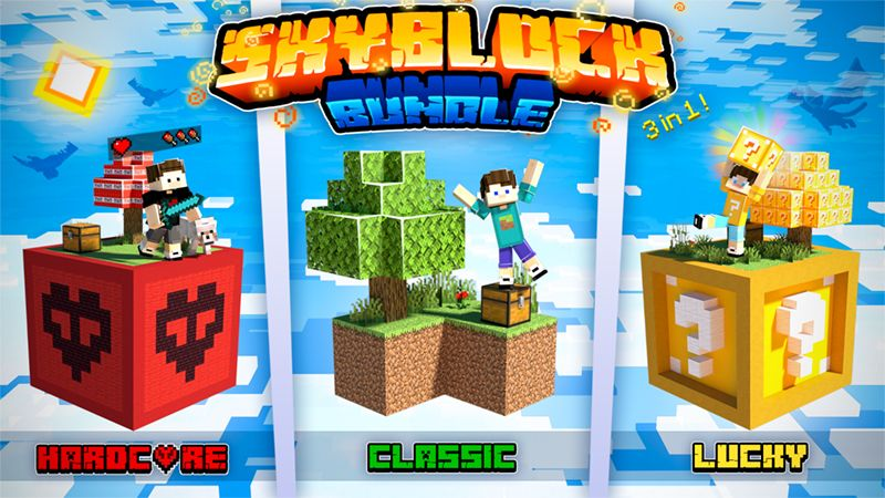 Skyblock Bundle on the Minecraft Marketplace by Owls Cubed