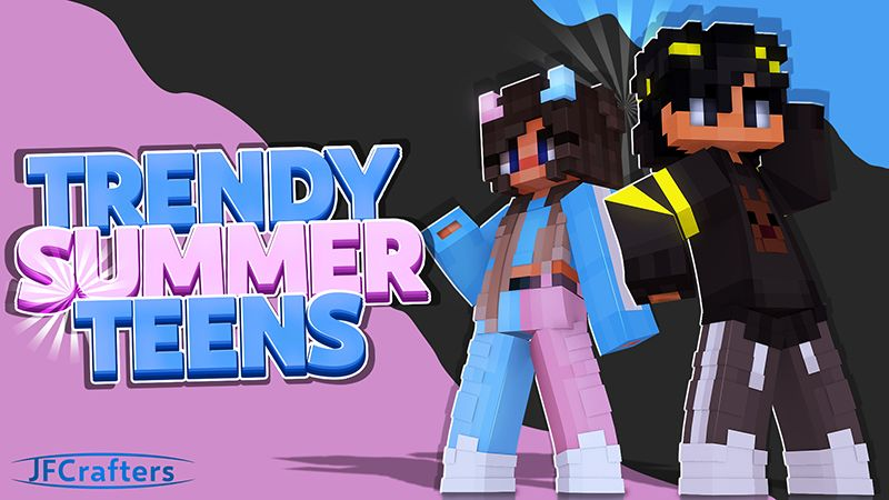 Trendy Summer Teens on the Minecraft Marketplace by JFCrafters
