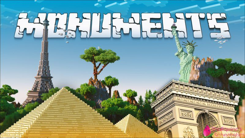 Monuments on the Minecraft Marketplace by Shaliquinn's Schematics