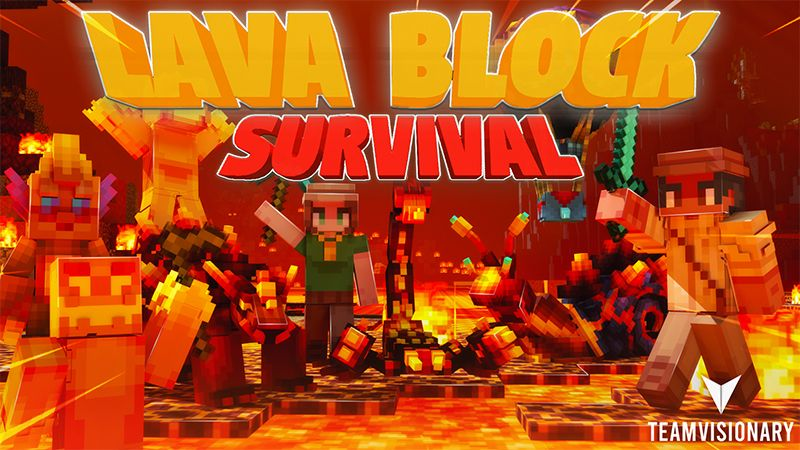 Lava Block Survival on the Minecraft Marketplace by Team Visionary