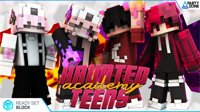 Haunted Academy Teens on the Minecraft Marketplace by Ready, Set, Block!