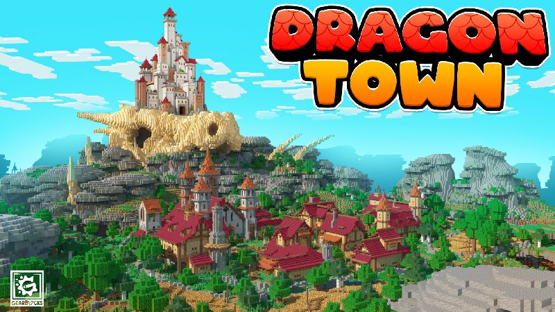 Dragon Town on the Minecraft Marketplace by Gearblocks