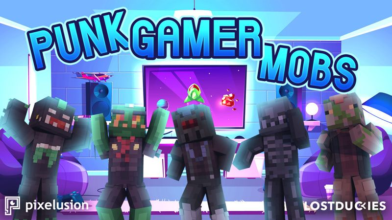 Punk Gamer Mobs on the Minecraft Marketplace by Pixelusion