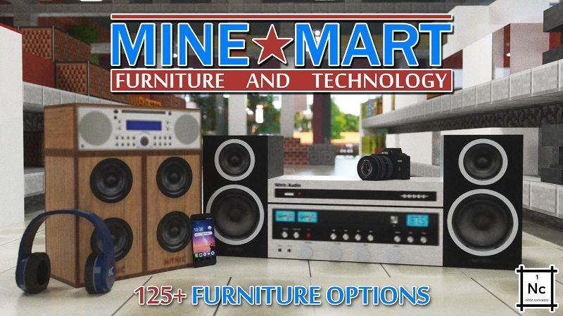 MineMart Furniture  Tech on the Minecraft Marketplace by Nitric Concepts