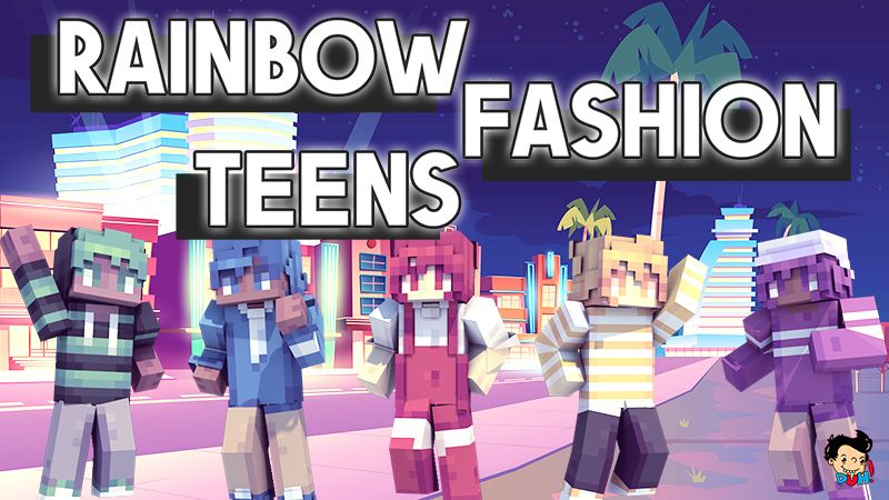 Rainbow Fashion Teens on the Minecraft Marketplace by Duh