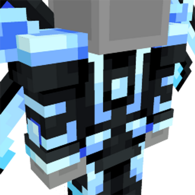 Neon Blue Space Suit on the Minecraft Marketplace by Team Vaeron