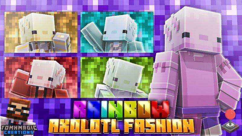 Rainbow Axolotl Fashion on the Minecraft Marketplace by Tomhmagic Creations