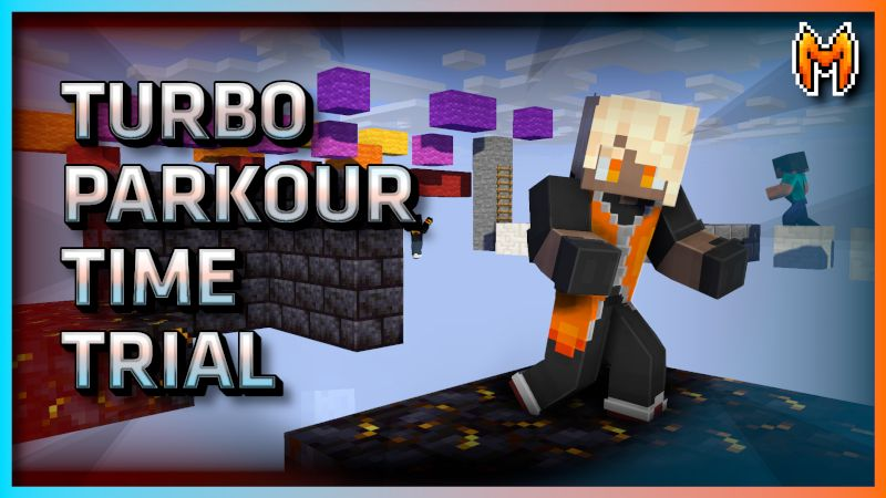 Turbo Parkour Time Trial on the Minecraft Marketplace by Metallurgy Blockworks