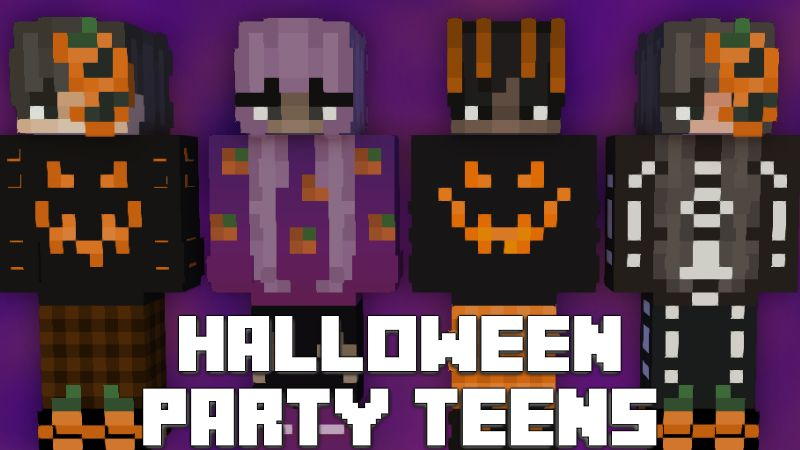 Halloween Party Teens on the Minecraft Marketplace by Pixelationz Studios