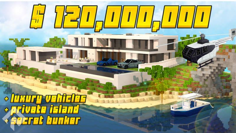 Island Millionaire Mansion on the Minecraft Marketplace by RareLoot