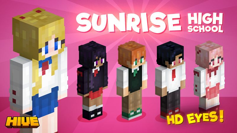 Sunrise High School on the Minecraft Marketplace by The Hive