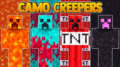 Camo Creepers on the Minecraft Marketplace by 57Digital