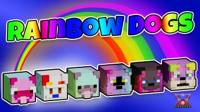 Rainbow Dogs on the Minecraft Marketplace by Cleverlike