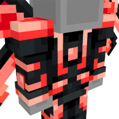 Neon Red Space Suit on the Minecraft Marketplace by Team Vaeron