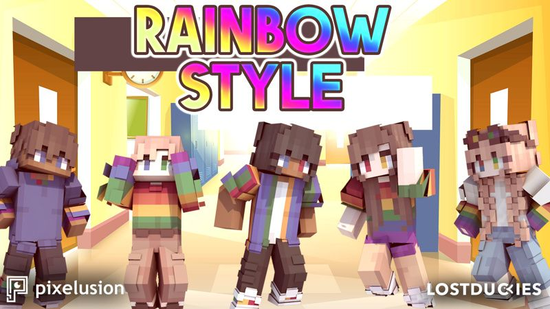 Rainbow Style on the Minecraft Marketplace by Pixelusion