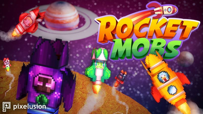 Rocket Mobs on the Minecraft Marketplace by Pixelusion
