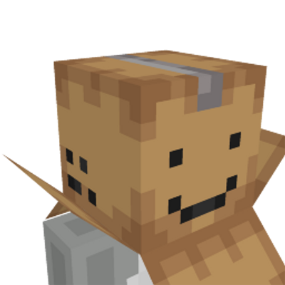 Cardboard Box Hat on the Minecraft Marketplace by Noxcrew