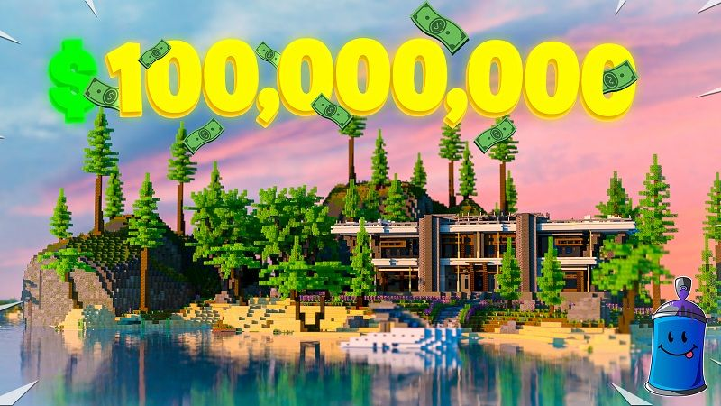Millionaire Beach Mansion on the Minecraft Marketplace by Fall Studios