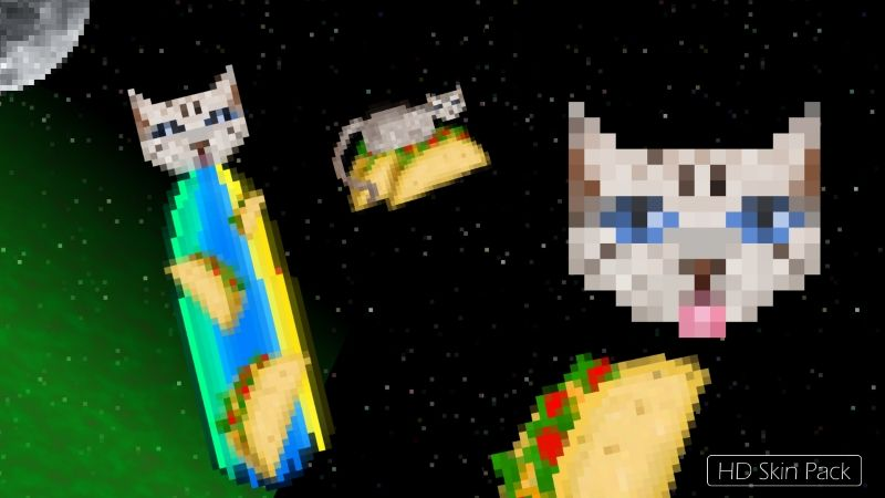 Taco Cats in Space on the Minecraft Marketplace by Arrow Art Games