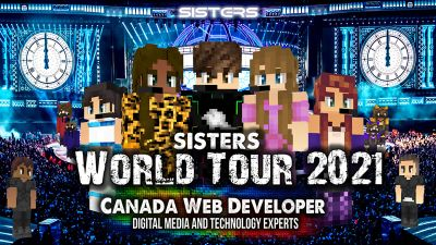 Sisters World Tour 2021 on the Minecraft Marketplace by CanadaWebDeveloper