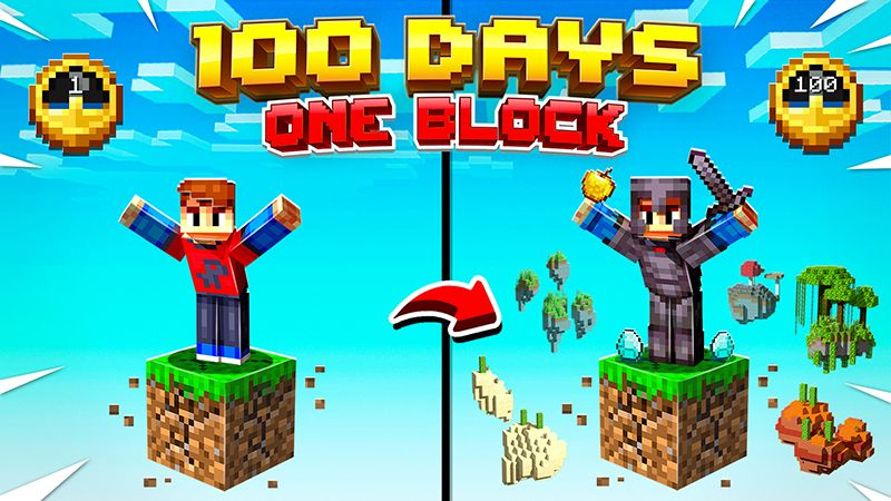 100 Days One Block on the Minecraft Marketplace by Razzleberries