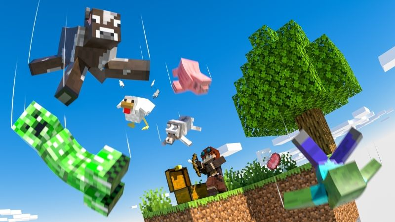 Skyblock Raining Mobs on the Minecraft Marketplace by Cubed Creations