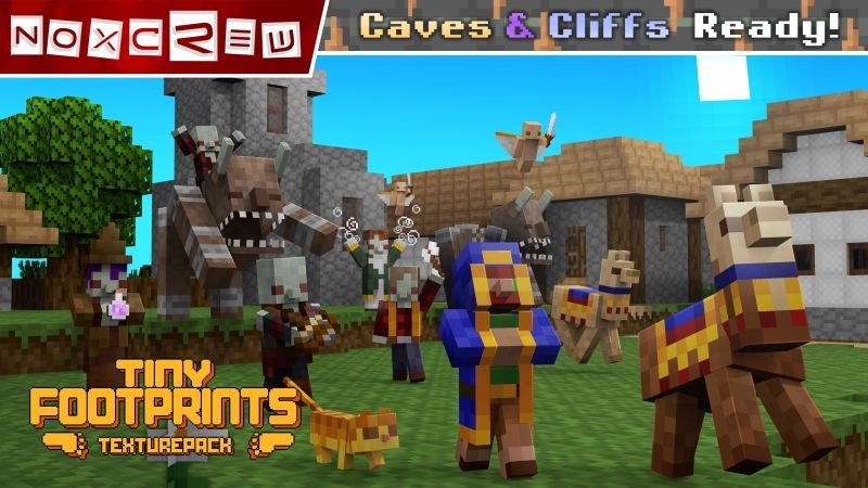 Tiny Footprints Texture Pack on the Minecraft Marketplace by Noxcrew