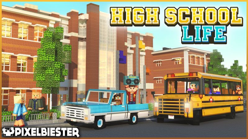 High School Life on the Minecraft Marketplace by Pixelbiester
