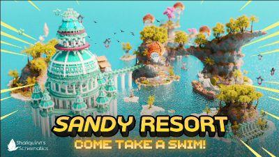 Sandy Resort on the Minecraft Marketplace by Shaliquinn's Schematics