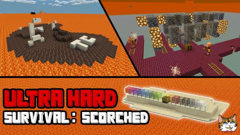Ultra Hard Survival Scorched on the Minecraft Marketplace by IBXToyMaps
