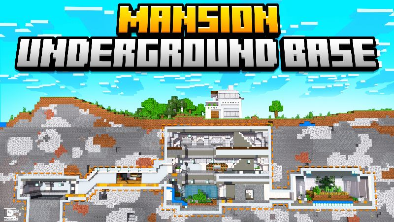 Mansion Underground Base on the Minecraft Marketplace by Diluvian