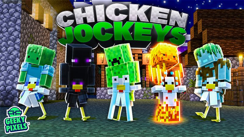 Chicken Jockeys on the Minecraft Marketplace by Geeky Pixels