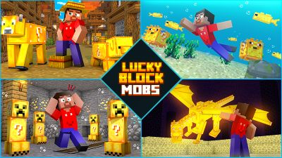Lucky Block Mobs on the Minecraft Marketplace by Diluvian