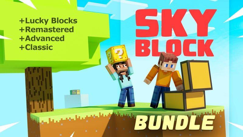 SKYBLOCK BUNDLE 4x Worlds on the Minecraft Marketplace by Spark Universe