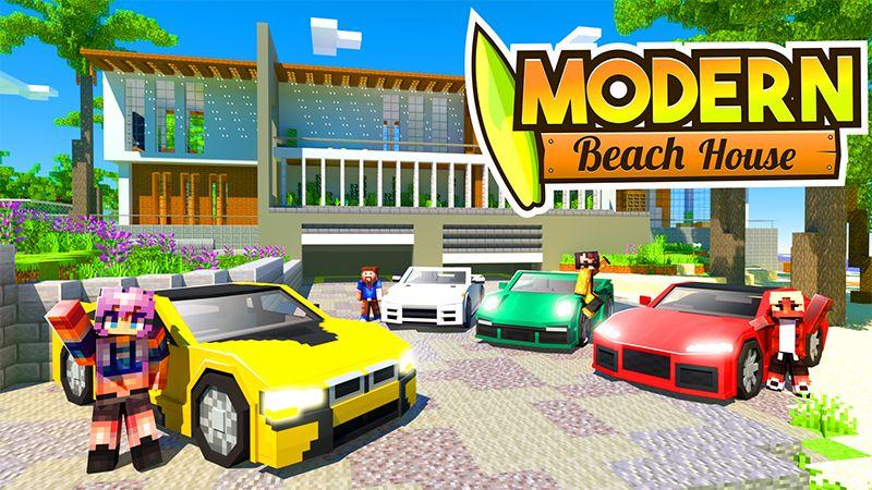 Modern Beach House on the Minecraft Marketplace by Kreatik Studios