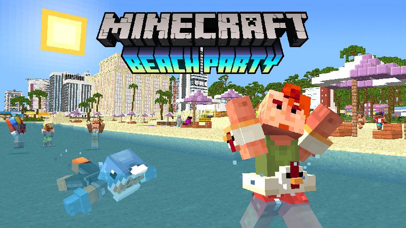 Beach Party Skin Pack on the Minecraft Marketplace by Minecraft