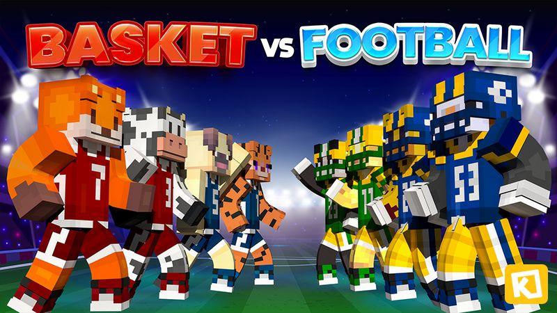 Basket vs Football on the Minecraft Marketplace by Kuboc Studios