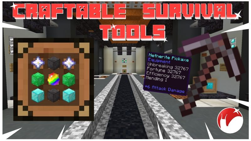 Craftable Survival Tools on the Minecraft Marketplace by Snail Studios