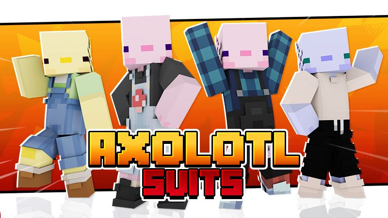 Axolotl Suits on the Minecraft Marketplace by Cypress Games
